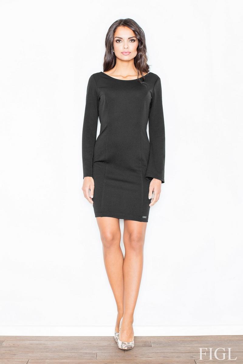 Dámské šaty Figl M416 černé (velikost S)