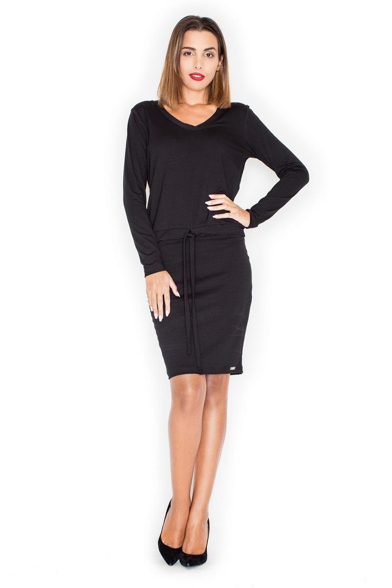 Dámské šaty Katrus K334 černé (velikost S)