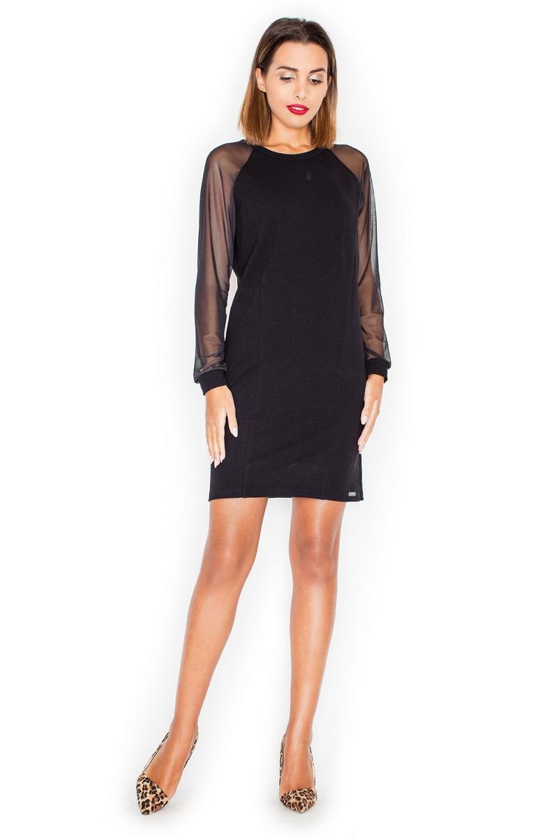 Dámské šaty Katrus K332 černé (velikost S)