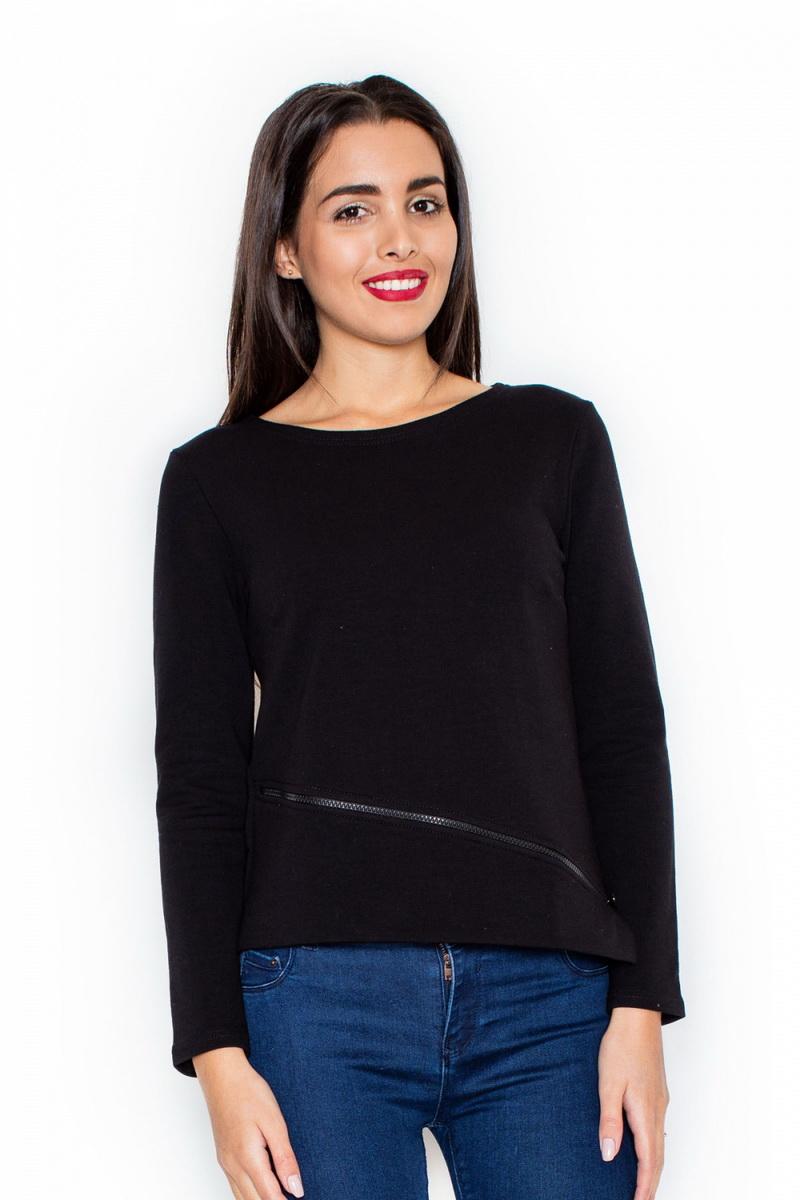 Dámské tričko Katrus K302 černé (velikost M)