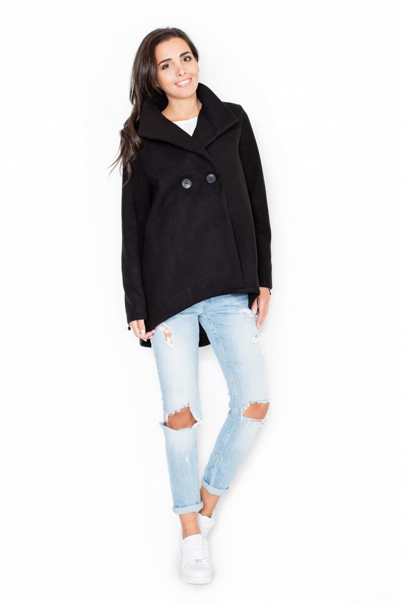 Dámský kabát Katrus K310 černý (velikost XL)