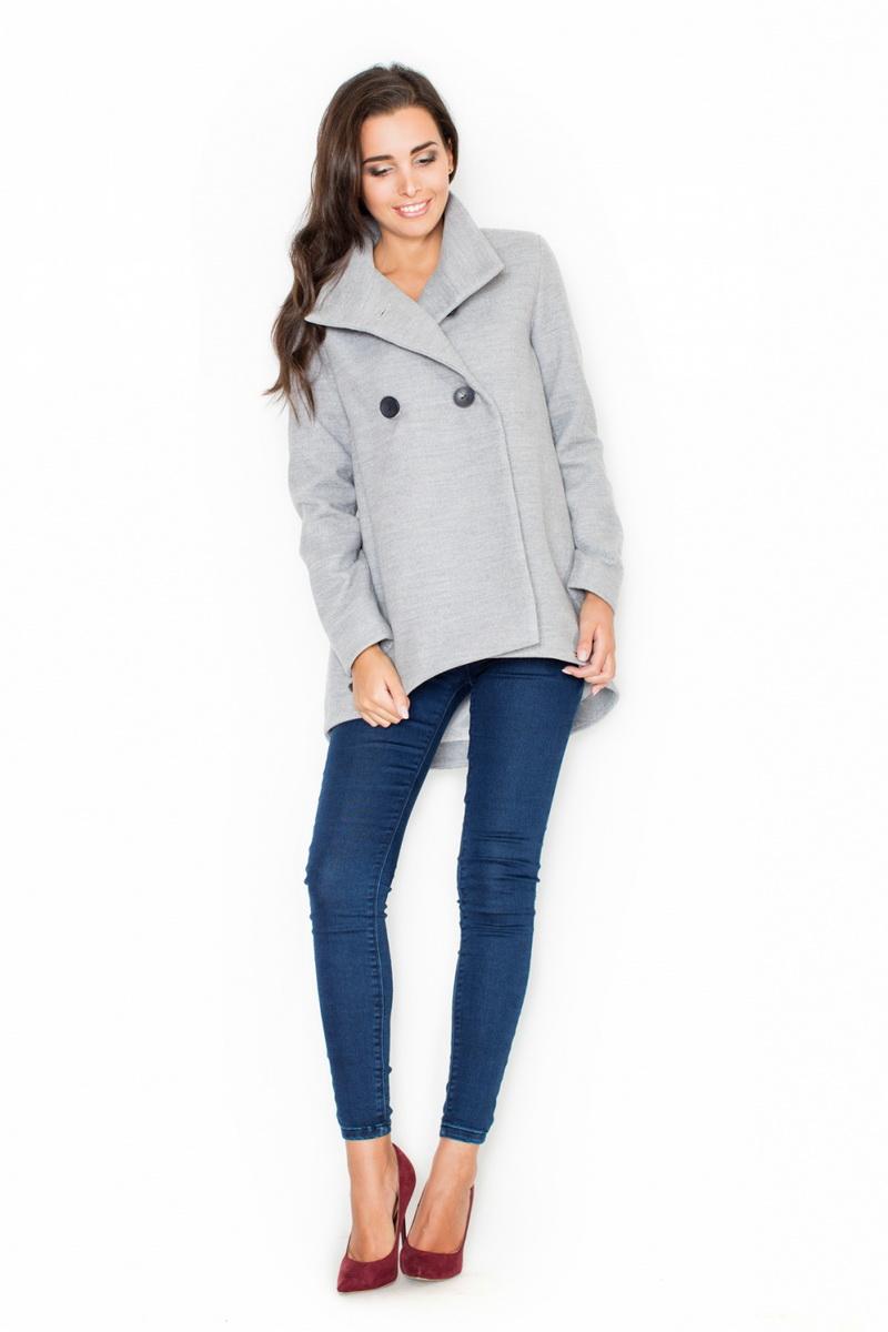 Dámský kabát Katrus K310 šedý (velikost XL)
