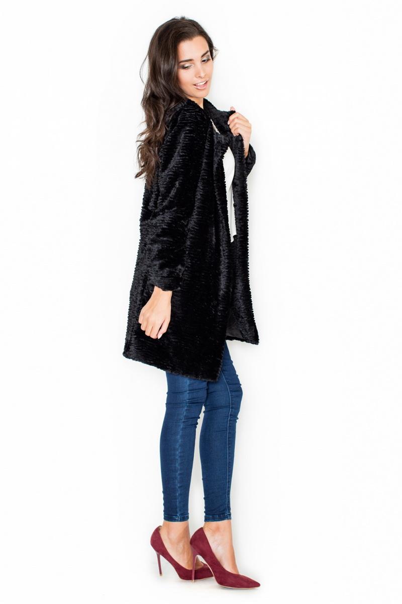 Dámský kabát Katrus K309 černý (velikost XL)