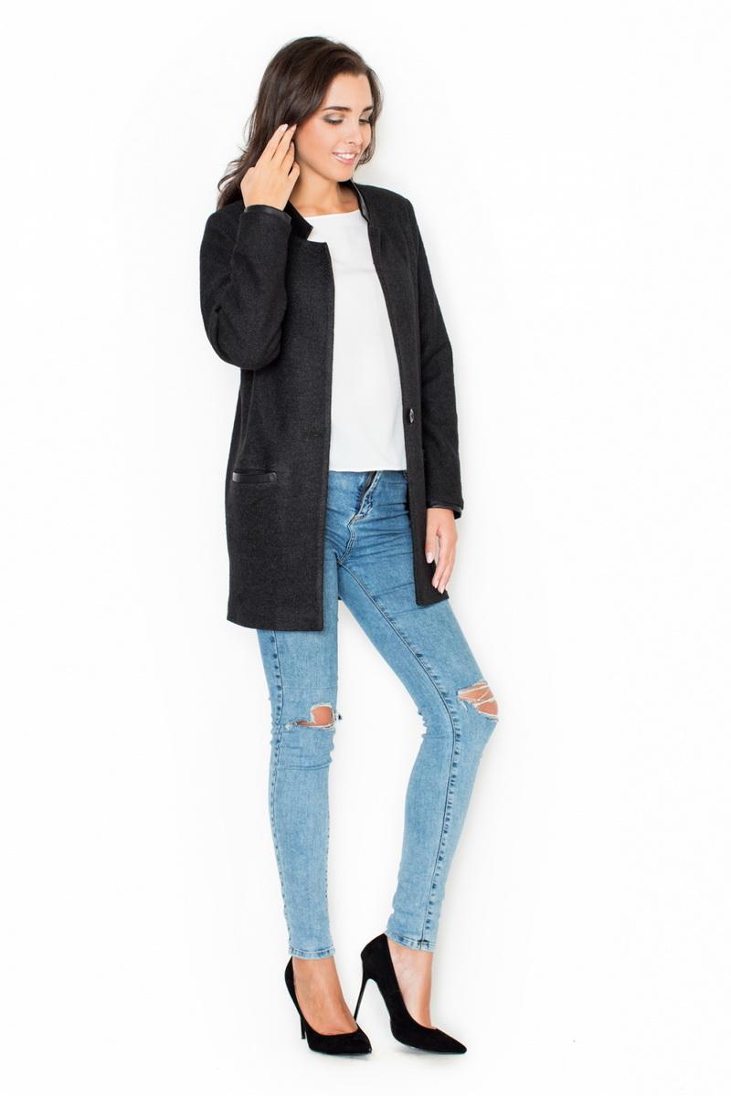 Dámský kabát Katrus K307 černý (velikost XL)