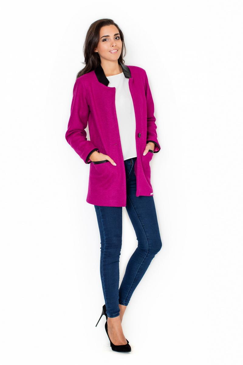 Dámský kabát Katrus K307 růžový (velikost XL)
