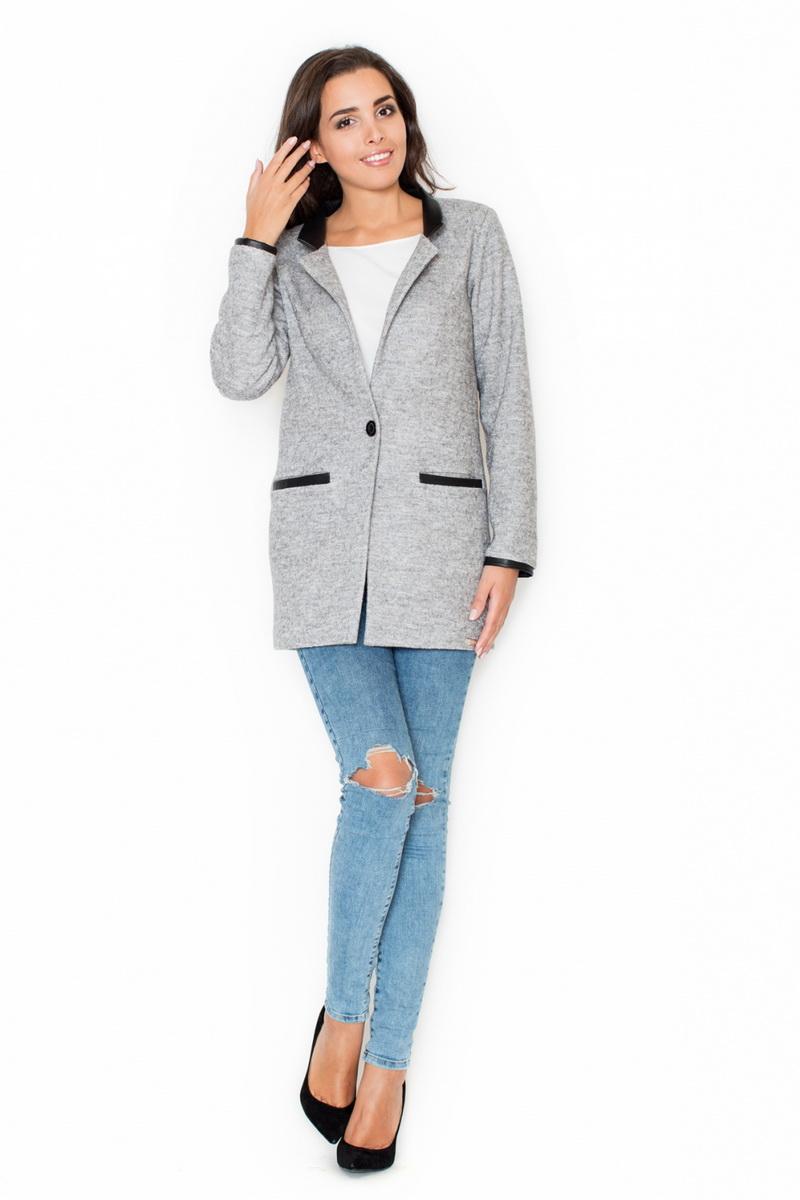 Dámský kabát Katrus K307 šedý (velikost XL)
