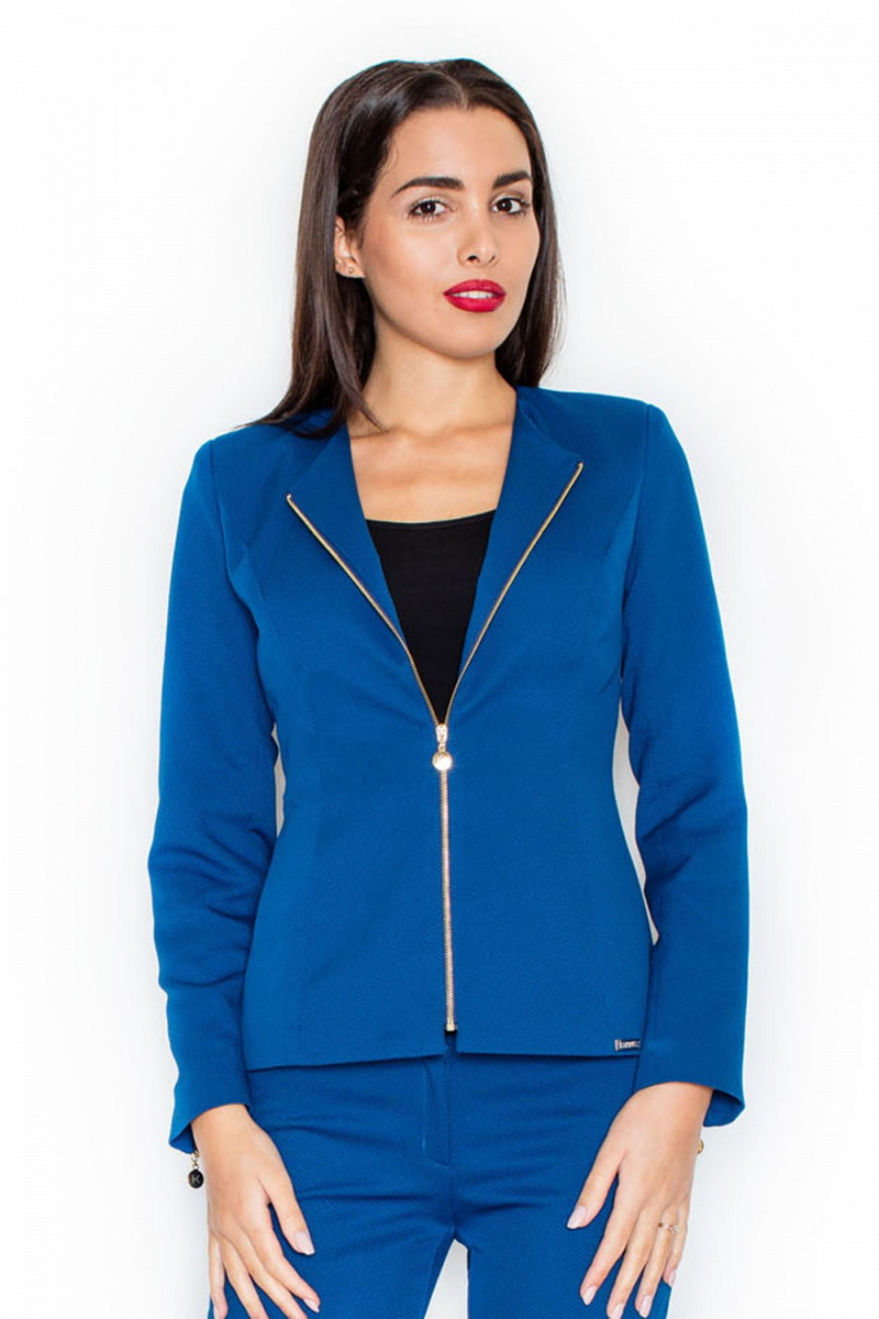 Dámské sako Katrus K301 modré (velikost XL)