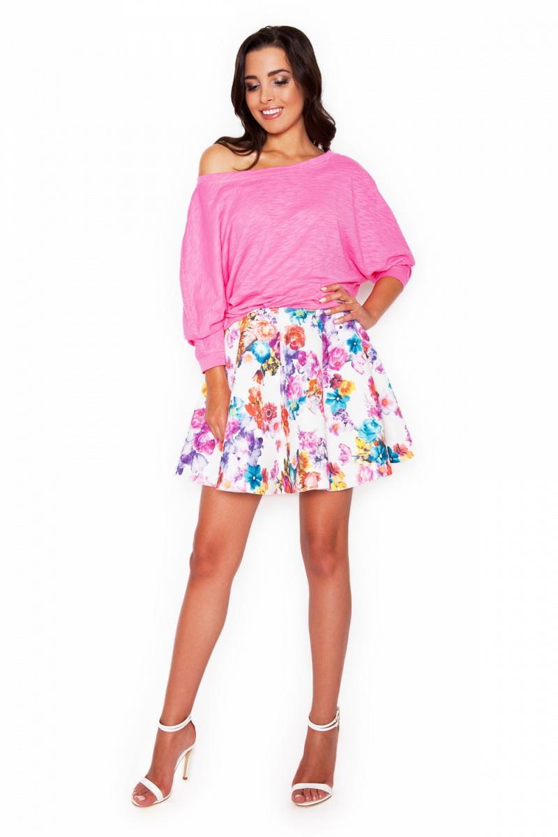 Dámská sukně Katrus K281 květinová (velikost S)