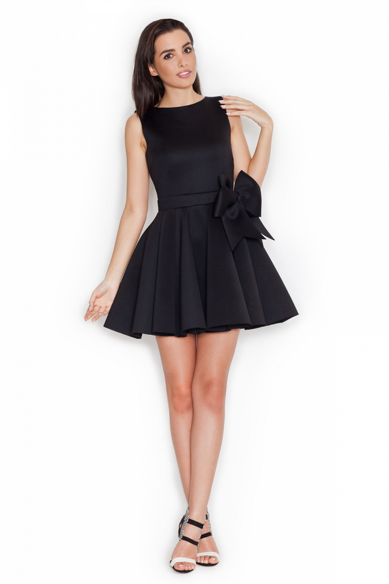 Dámské šaty Katrus K271 černé (velikost S)