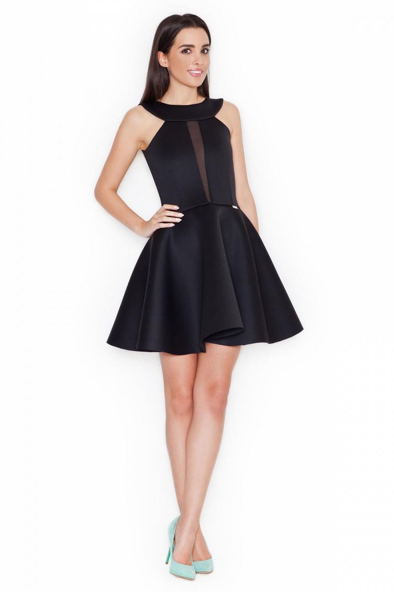 Dámské šaty Katrus K270 černé (velikost S)