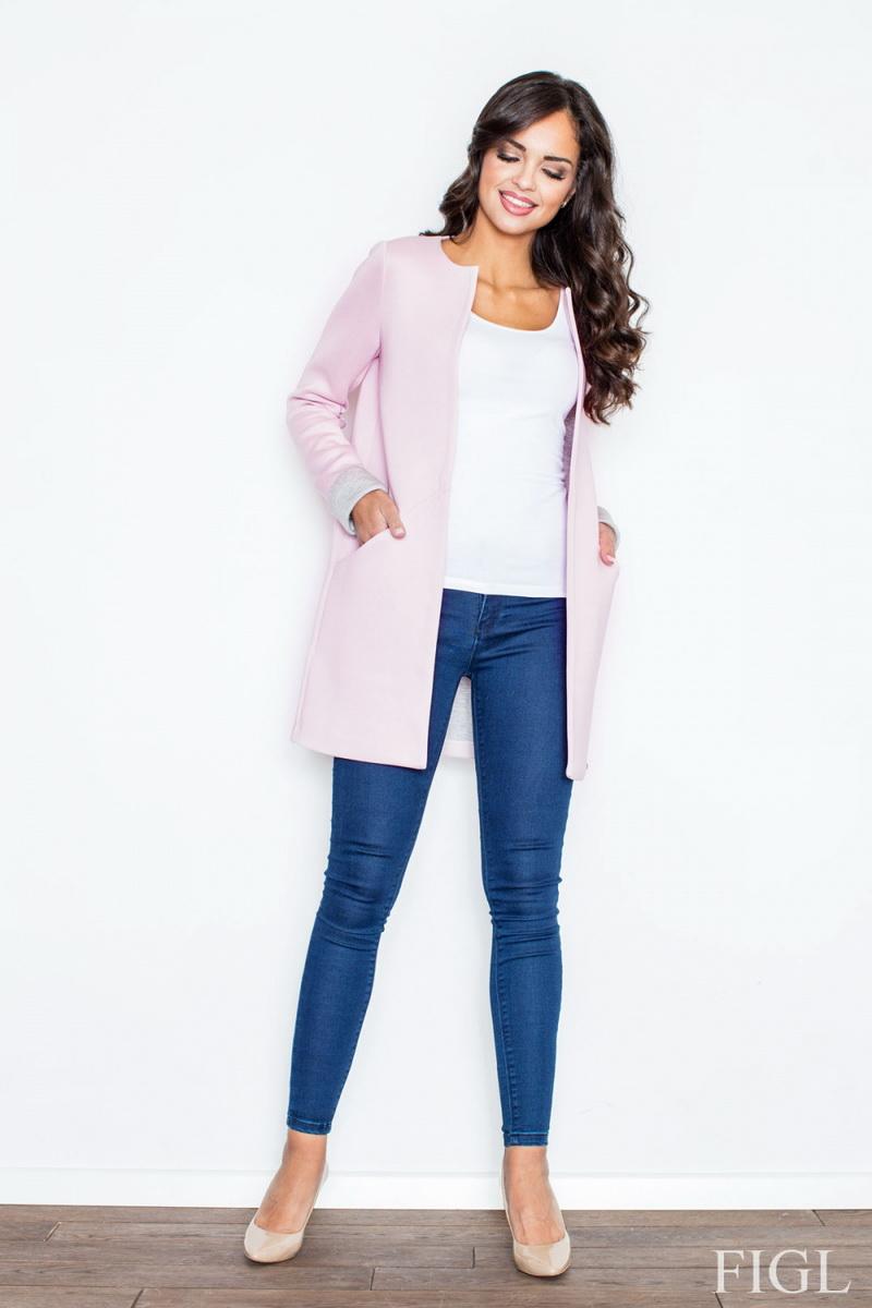 Dámský kabát Figl M366 růžový (velikost XL)