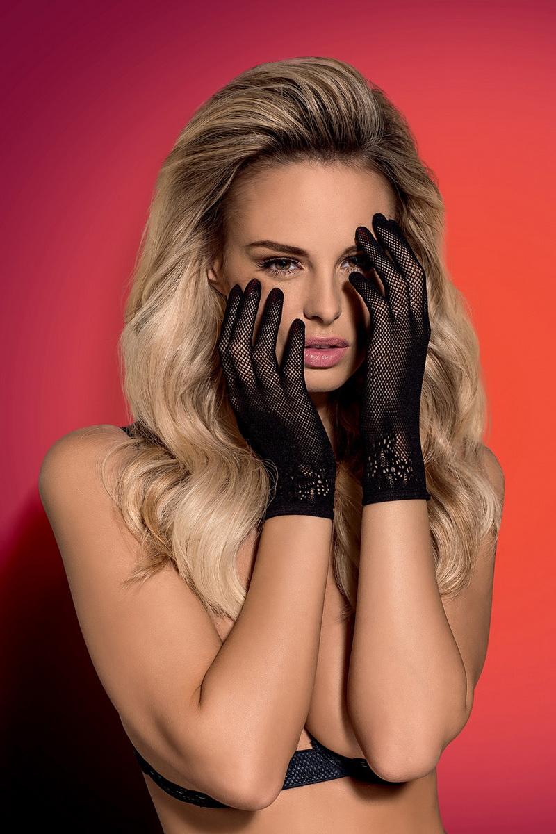Erotické rukavičky Lustella černé