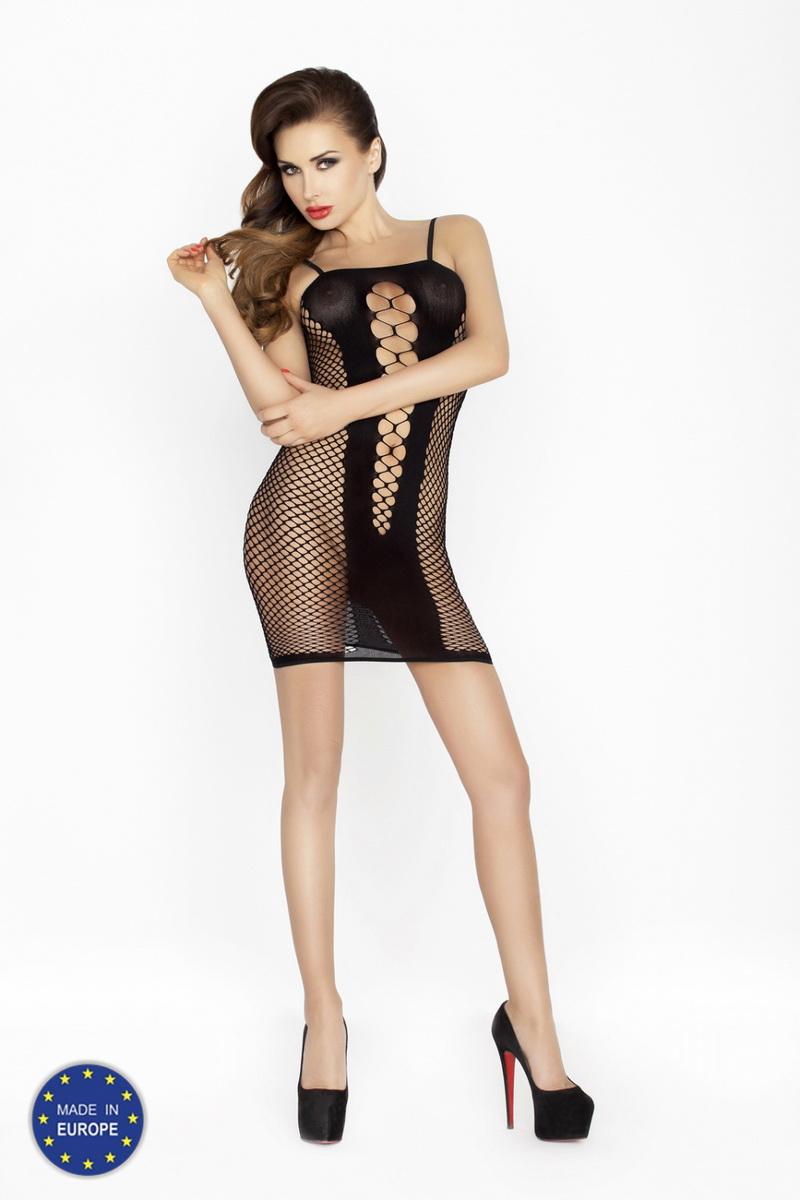Erotické šaty Passion BS027 černé (velikost S/L)