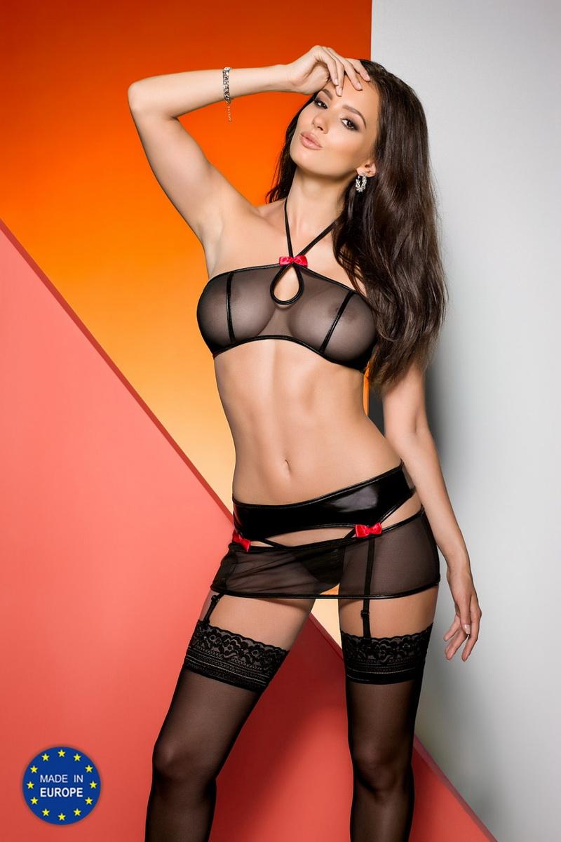 Erotická souprava Avanua Libby černá (velikost S/M)