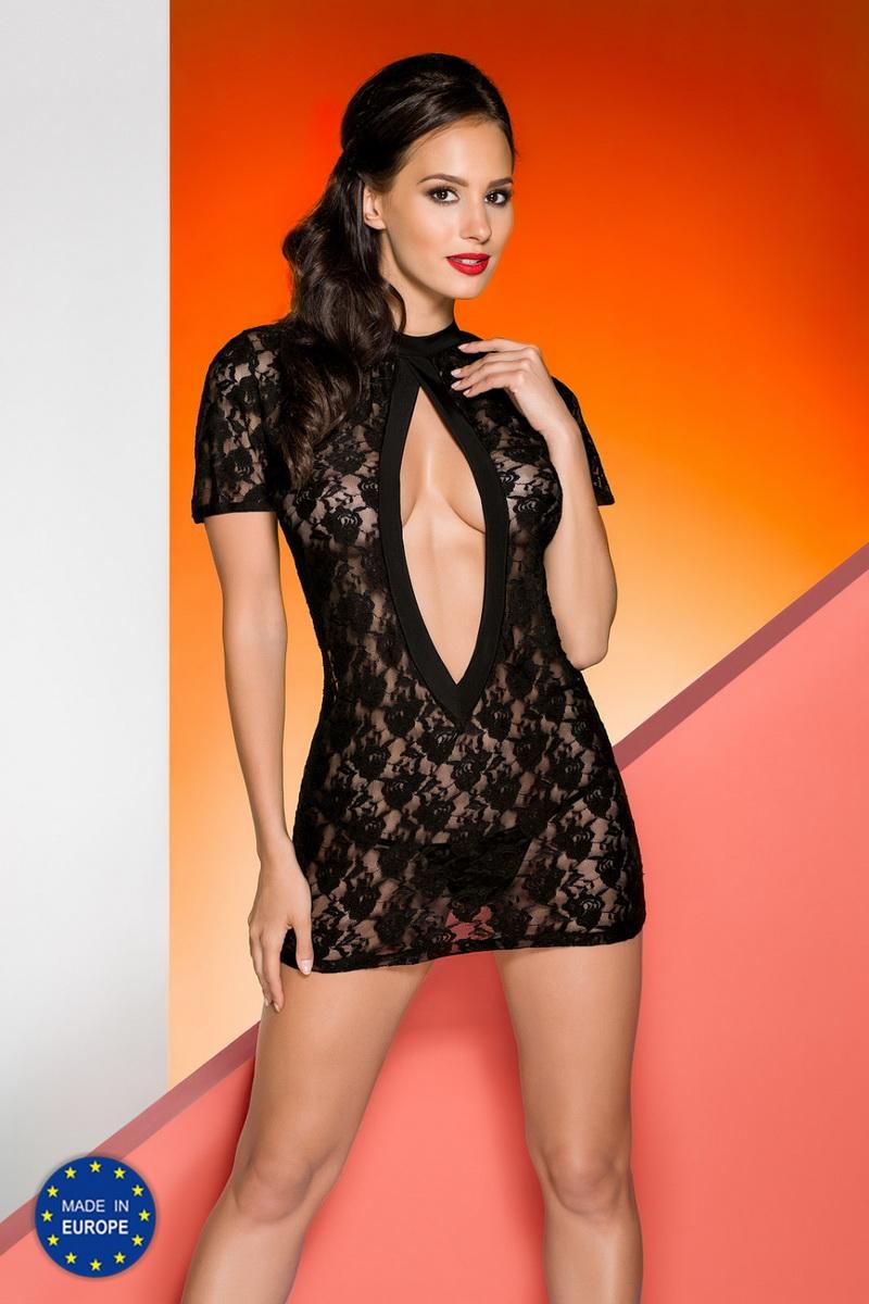 Erotická košilka Avanua Rika černá (velikost L/XL)