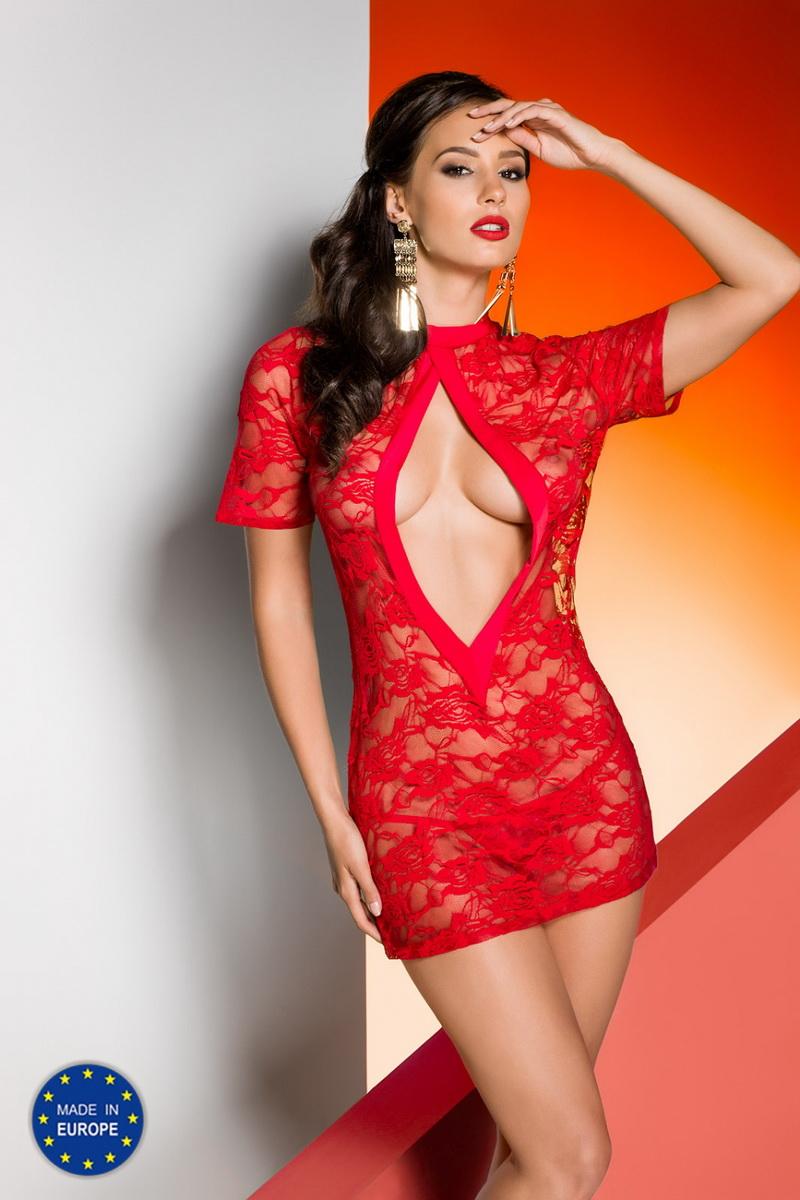 Erotická košilka Avanua Rika červená (velikost L/XL)