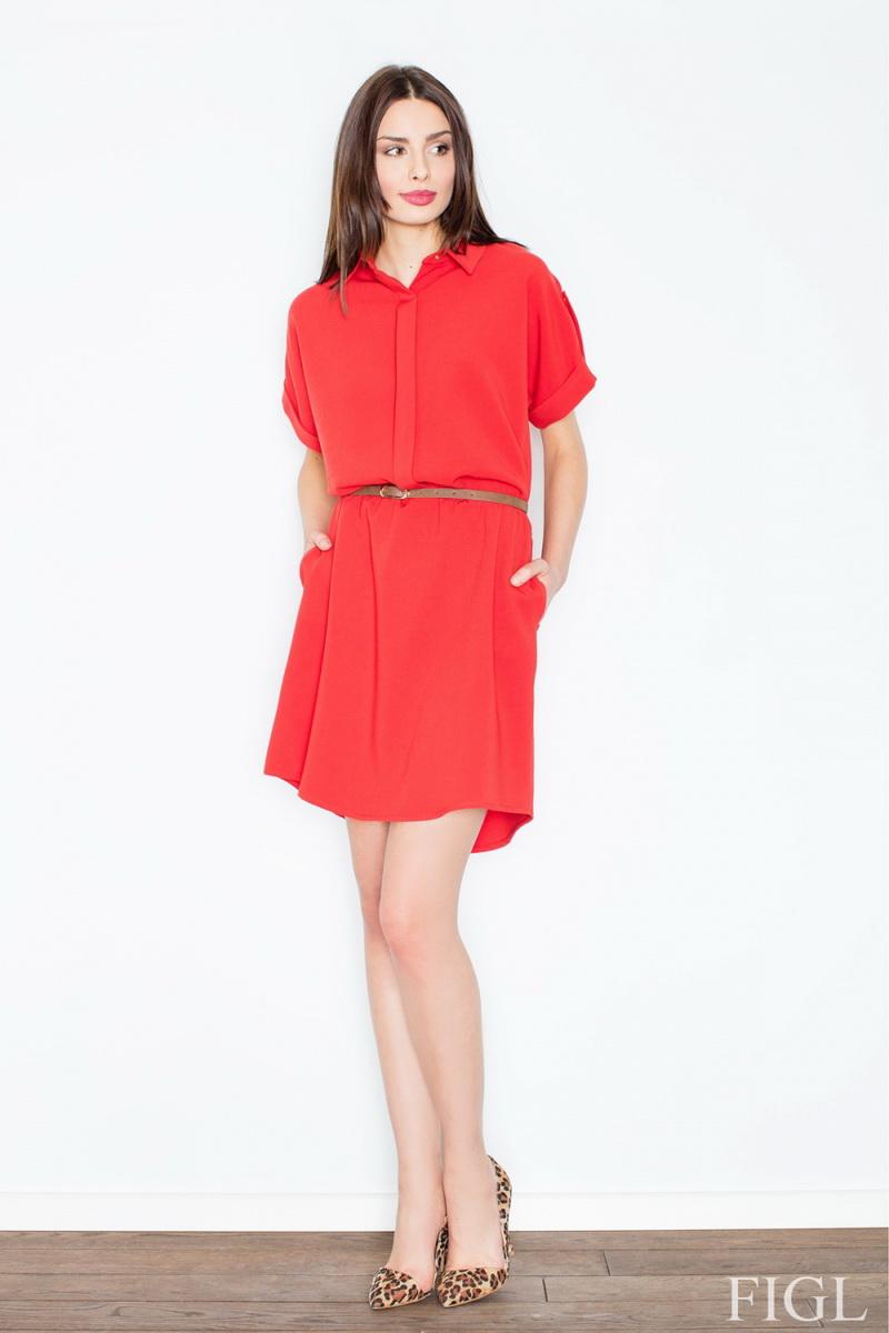 Dámské šaty Figl M442 červené (velikost S)