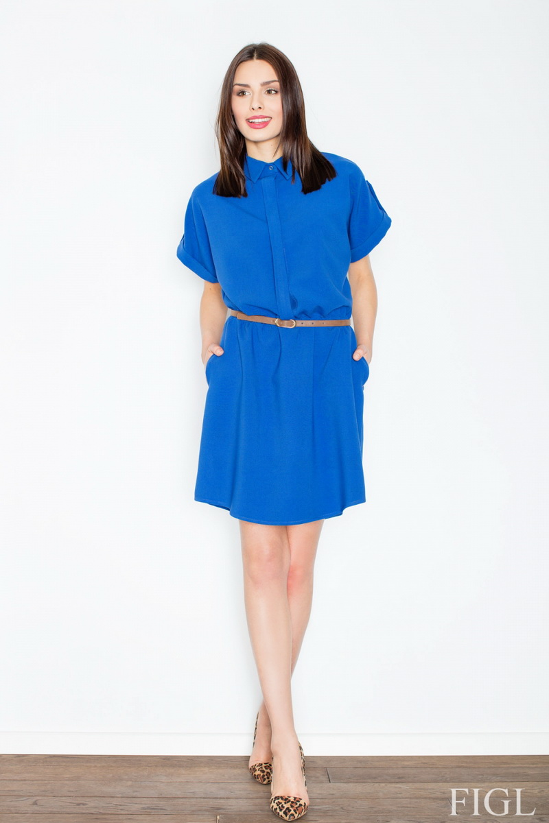 Dámské šaty Figl M442 modré (velikost S)