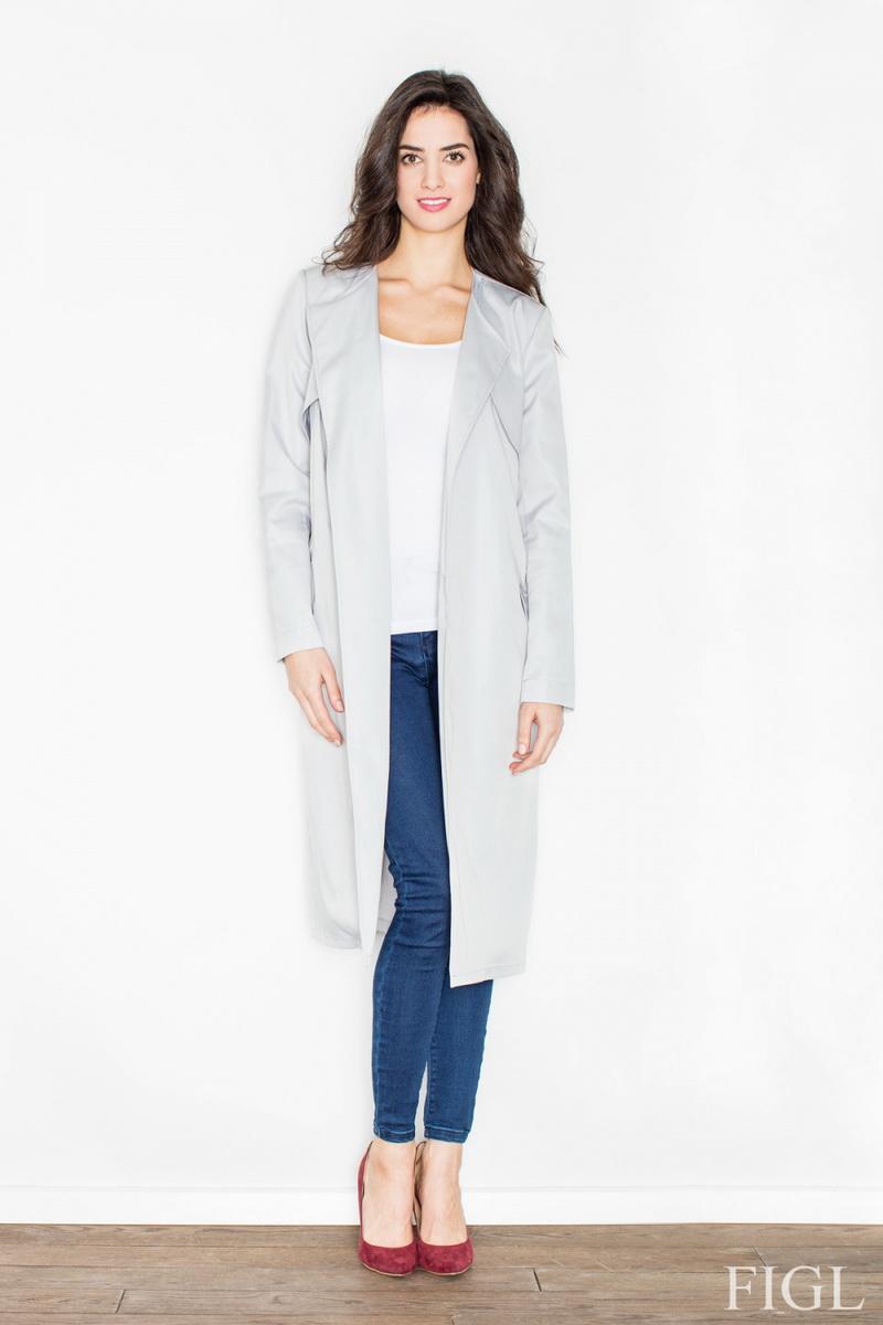 Dámský kabát Figl M427 šedý (velikost S)