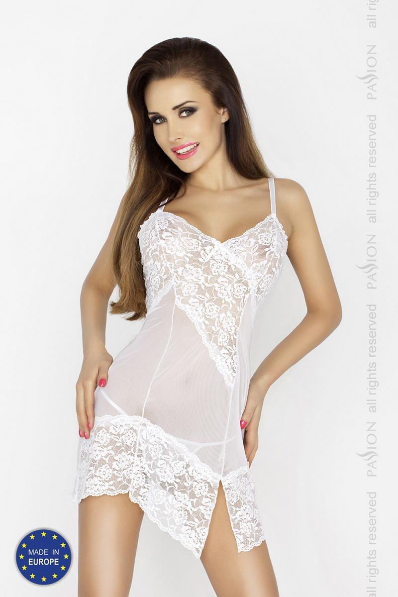 Erotická košilka Passion Amara bílá (velikost S/M)