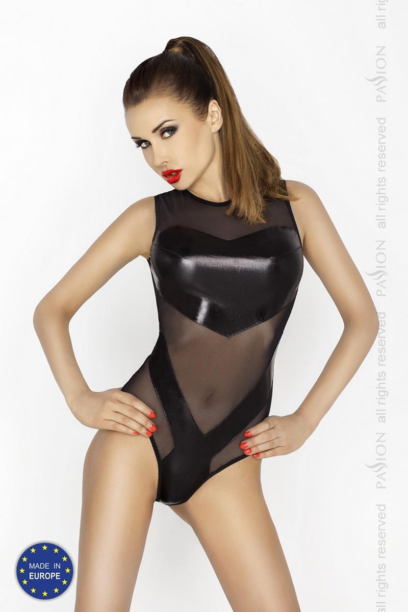 Erotické body Passion Clover černé (velikost L/XL)