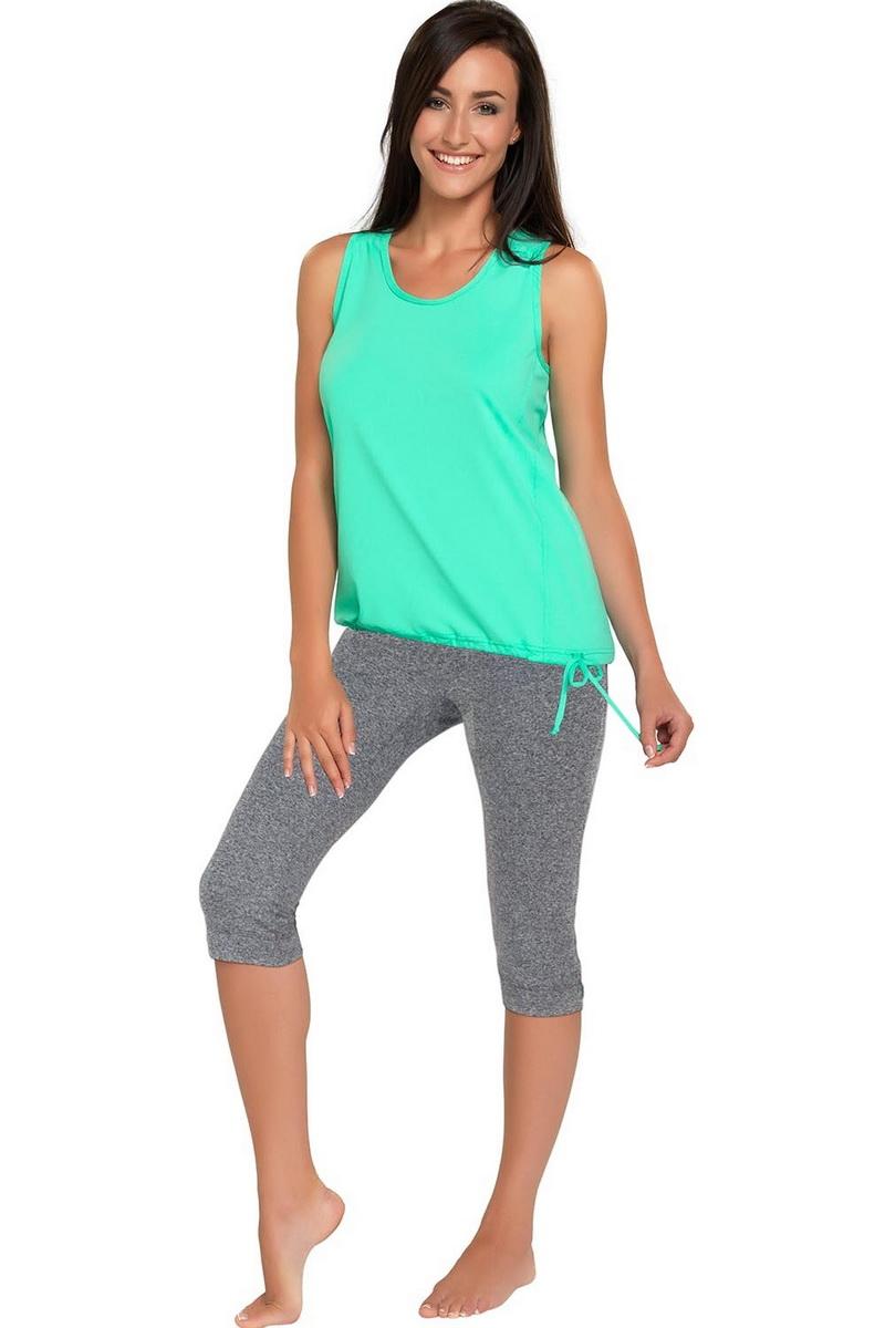 Fitness kalhoty gWinner Capri melanžové (velikost M)