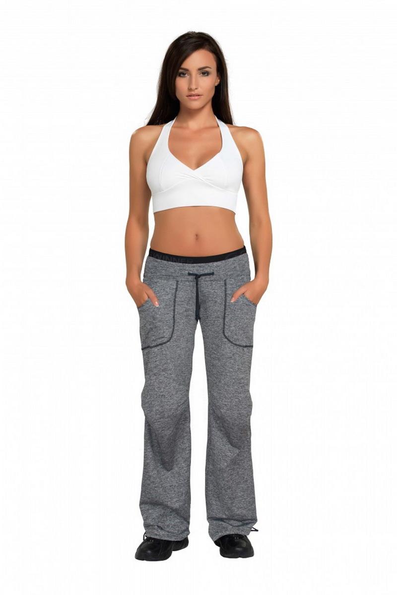 Fitness kalhoty gWinner Miranda melanžové (velikost XL)