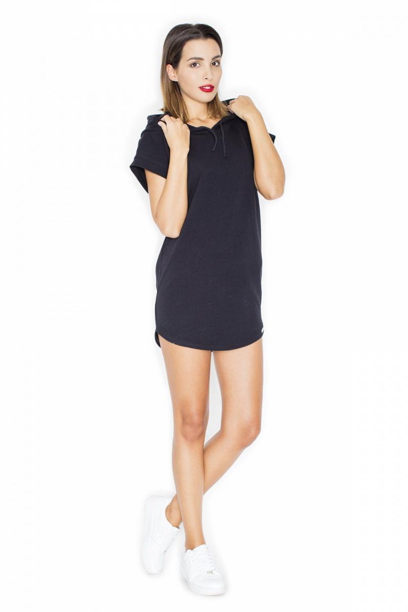 Dámské šaty Katrus K343 černé (velikost S)