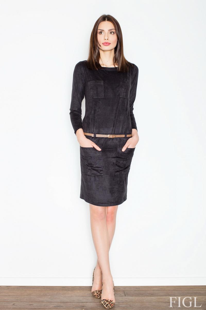 Dámské šaty Figl M452 černé (velikost S)