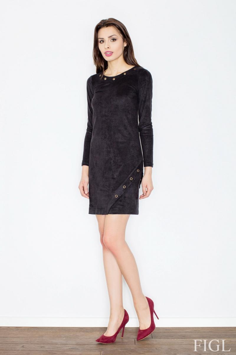 Dámské šaty Figl M455 černé (velikost S)