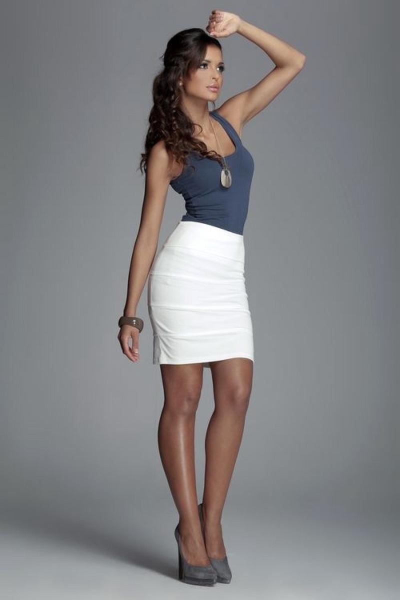 Dámská sukně Figl M084 krémová (velikost XL)
