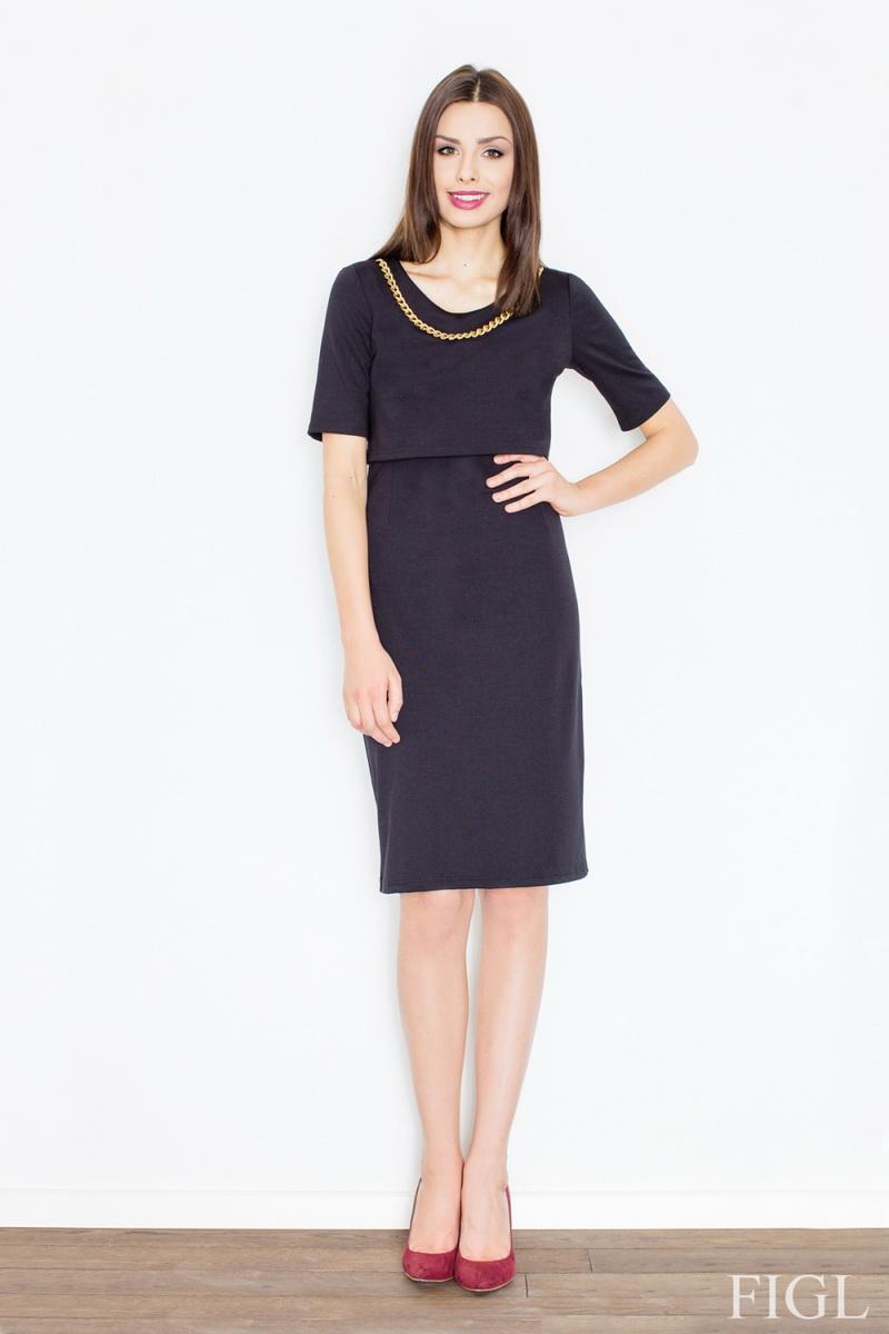 Dámské šaty Figl M446 černé (velikost S)