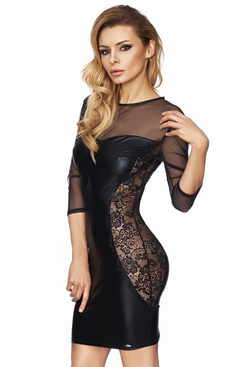 Erotické šaty 7-Heaven Arica černé (velikost S)