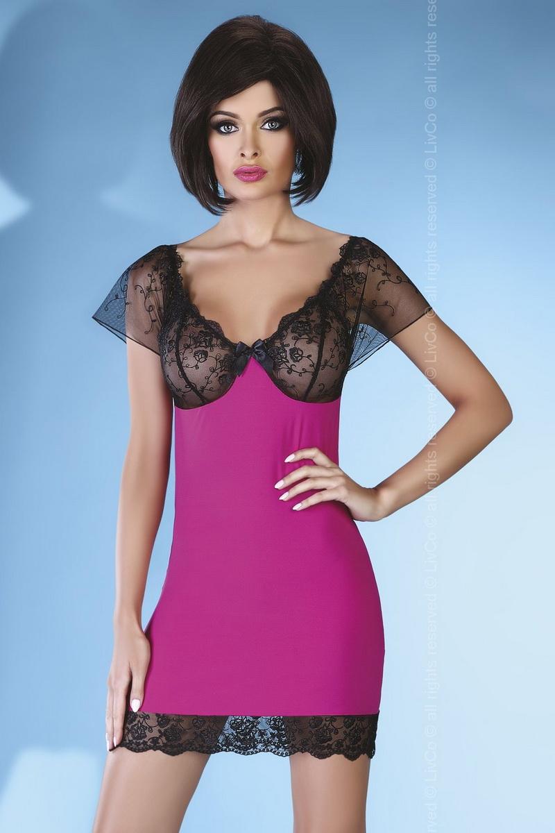 Erotická košilka LivCo Corsetti Adonise růžová (velikost S/M)
