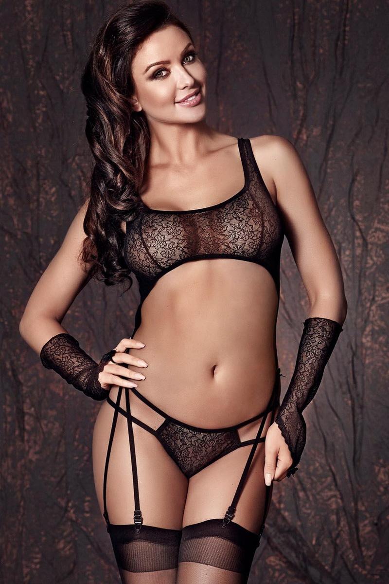Erotická souprava Anais Tiffiny černá (velikost XL)