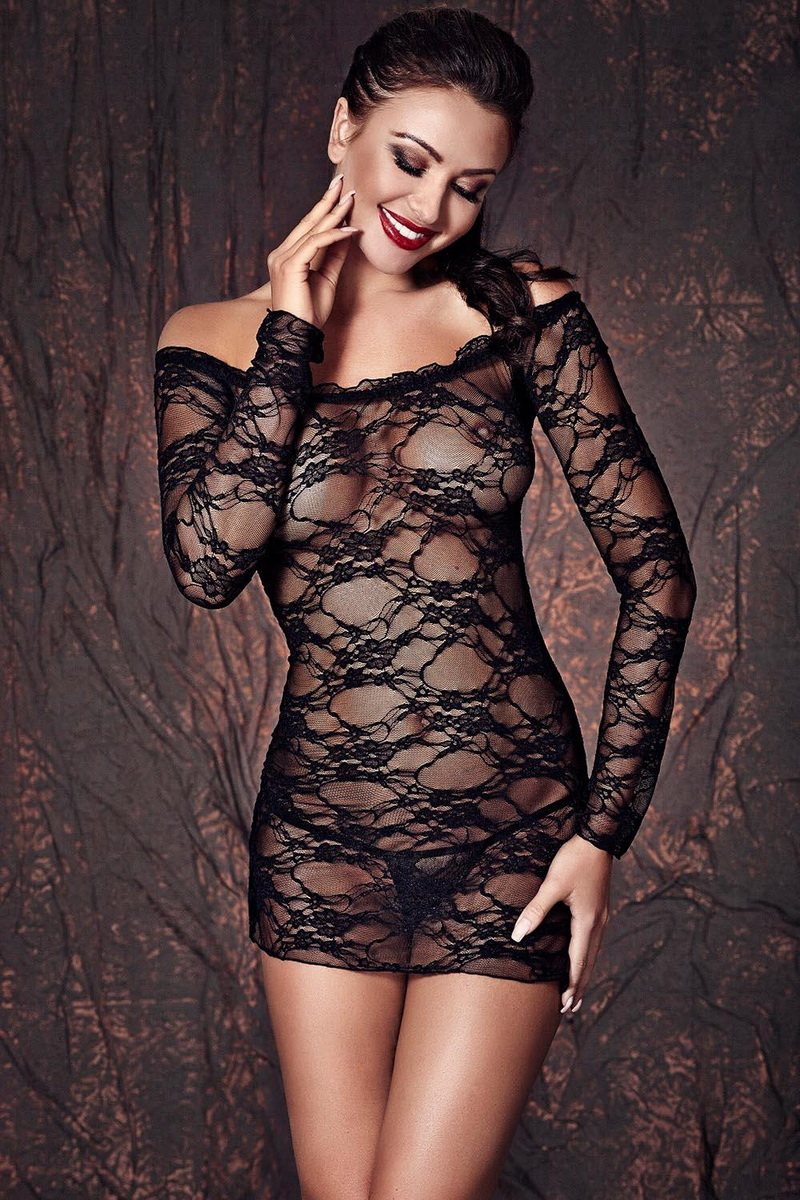 Erotická souprava Anais Lynette černá (velikost XL)
