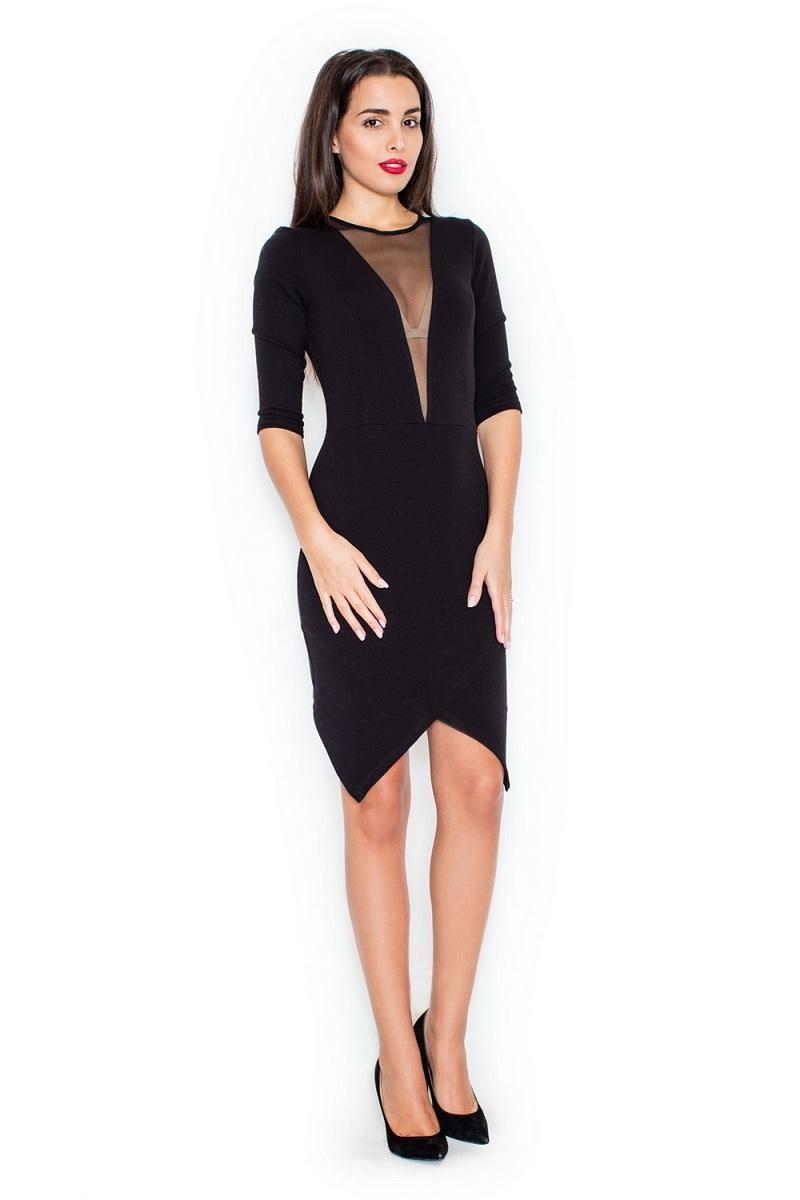 Dámské šaty Katrus K320 černé (velikost M)