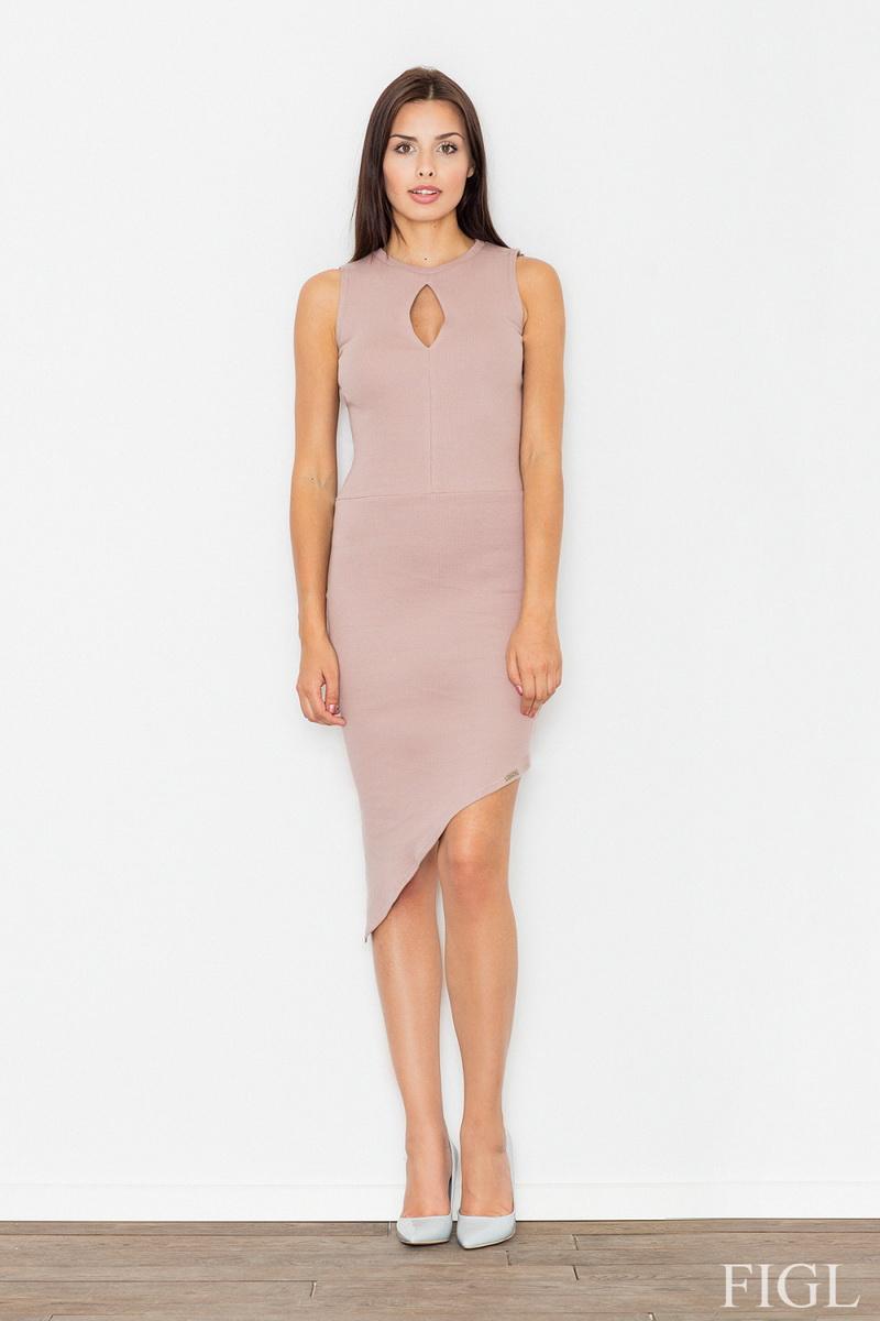 Dámské šaty Figl M486 růžové (velikost S)