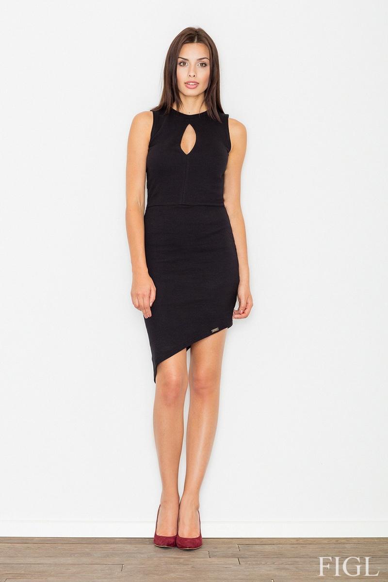 Dámské šaty Figl M486 černé (velikost S)