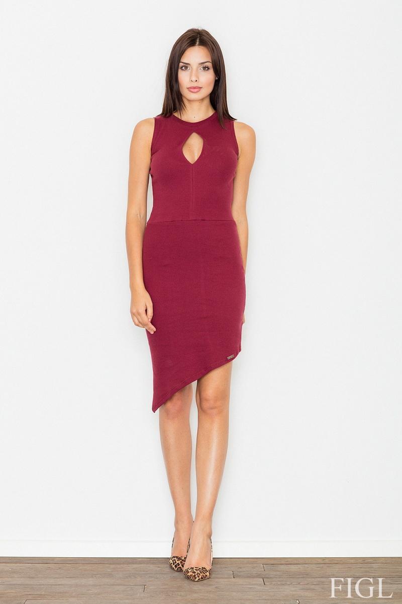 Dámské šaty Figl M486 vínové (velikost S)