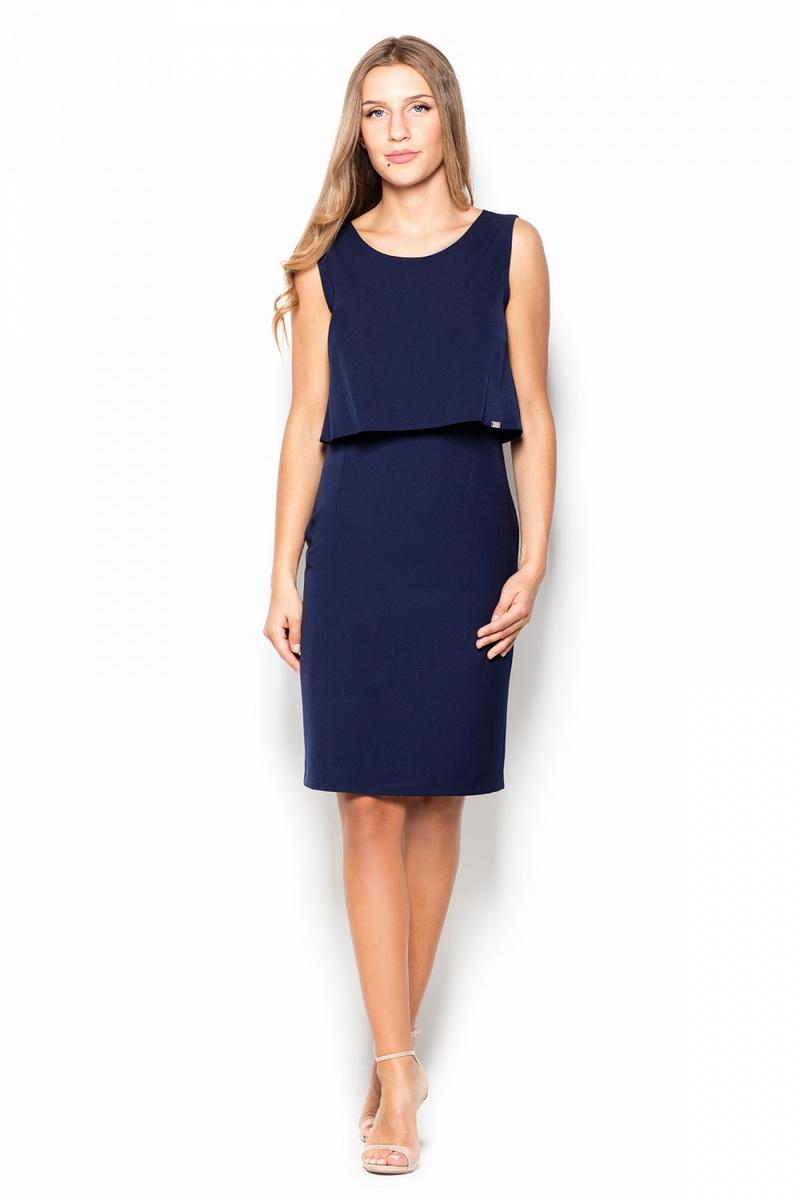 Dámské šaty Katrus K388 modré (velikost L)