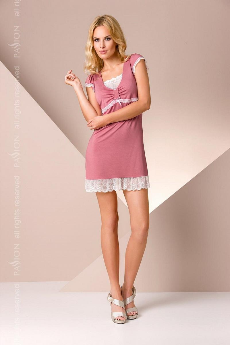 Noční košile Passion PY002 staro růžová (velikost M)