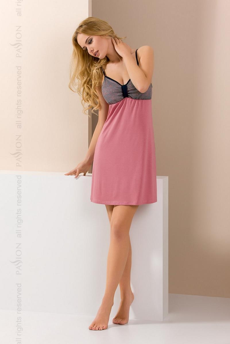 Noční košile Passion PY046 růžová (velikost M)
