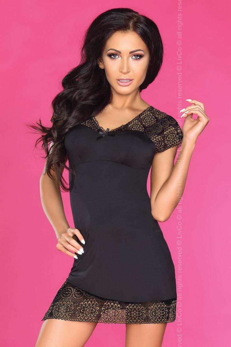 Dámská košilka LivCo Corsetti Keisha černá (velikost S/M)
