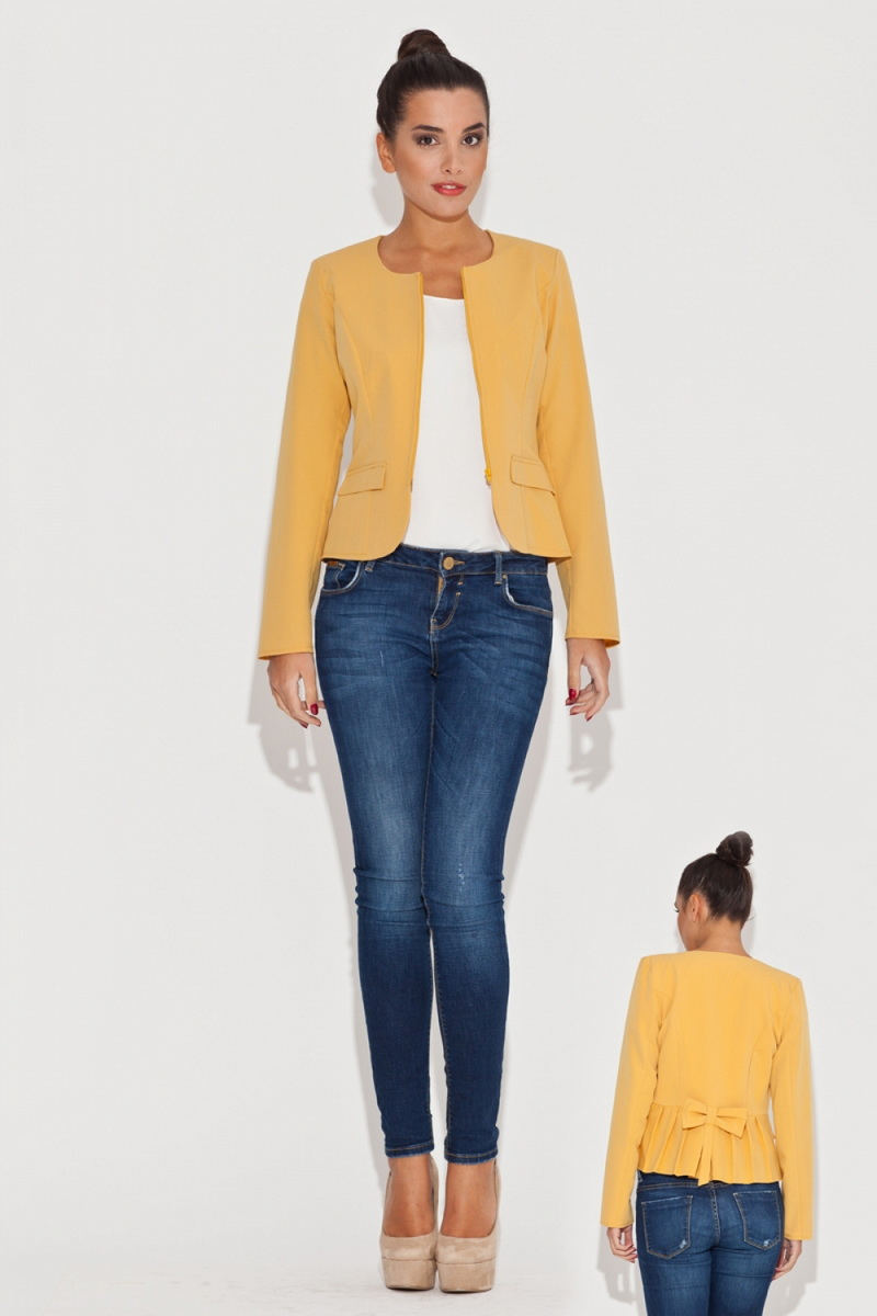 Dámské sako Katrus K054 žluté (velikost XL)