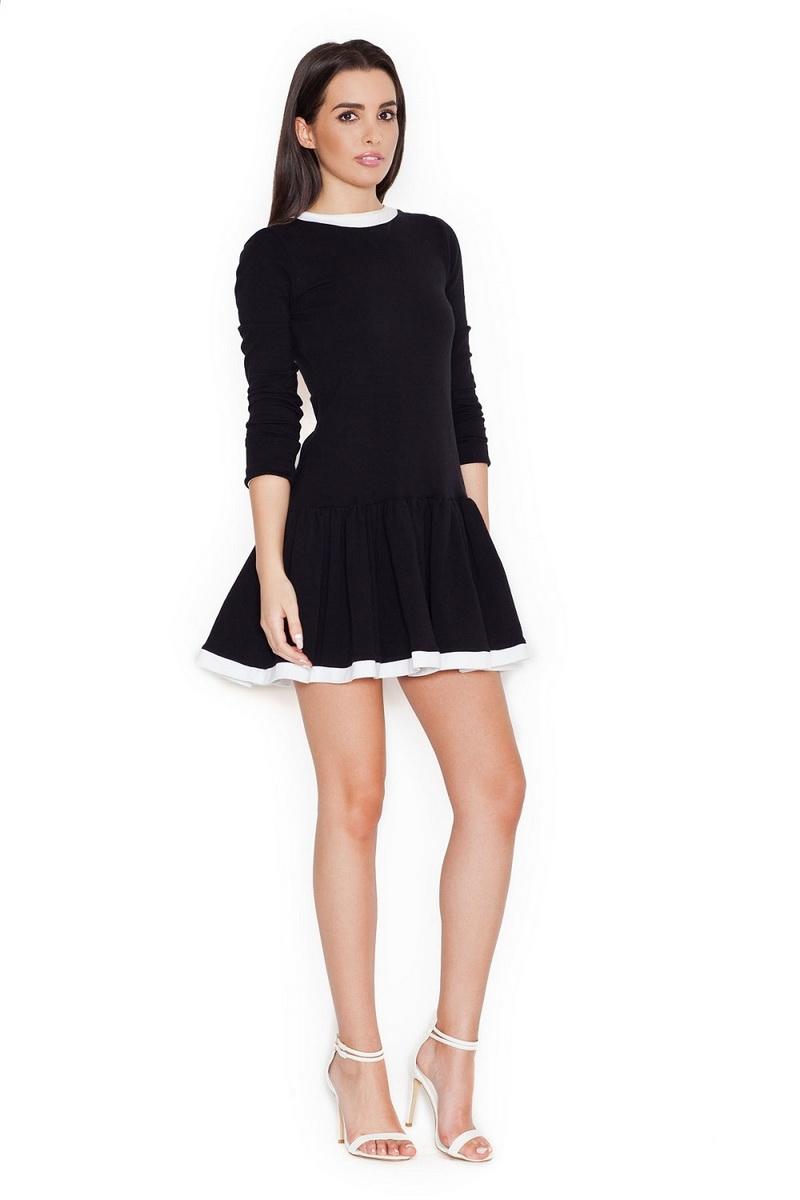 Dámské šaty Katrus K266 černé (velikost M)