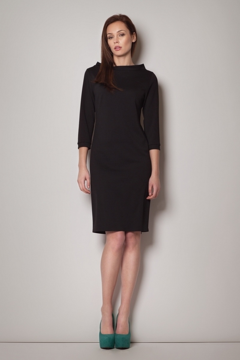 Dámské šaty Figl M181 černé (velikost M)