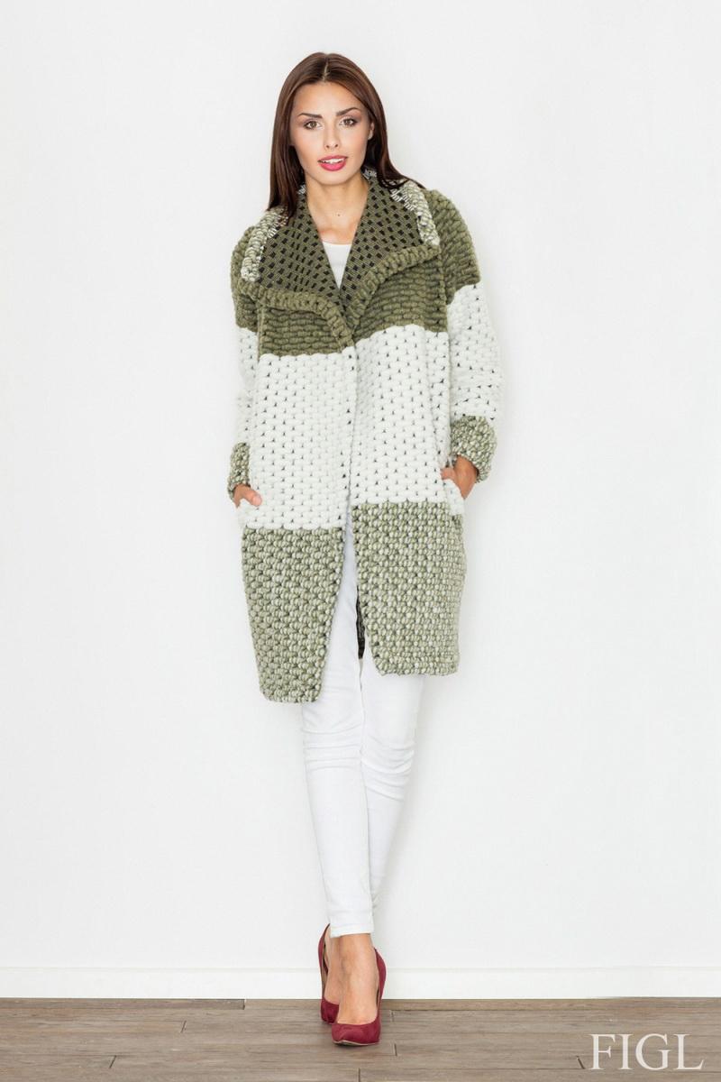 Dámský kabát Figl M507 olivový (velikost XL)