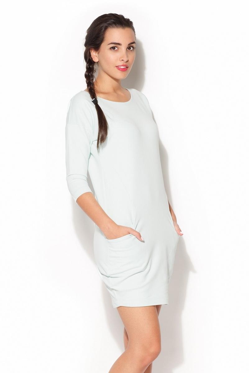 Dámské šaty Katrus K181 mátové (velikost S)