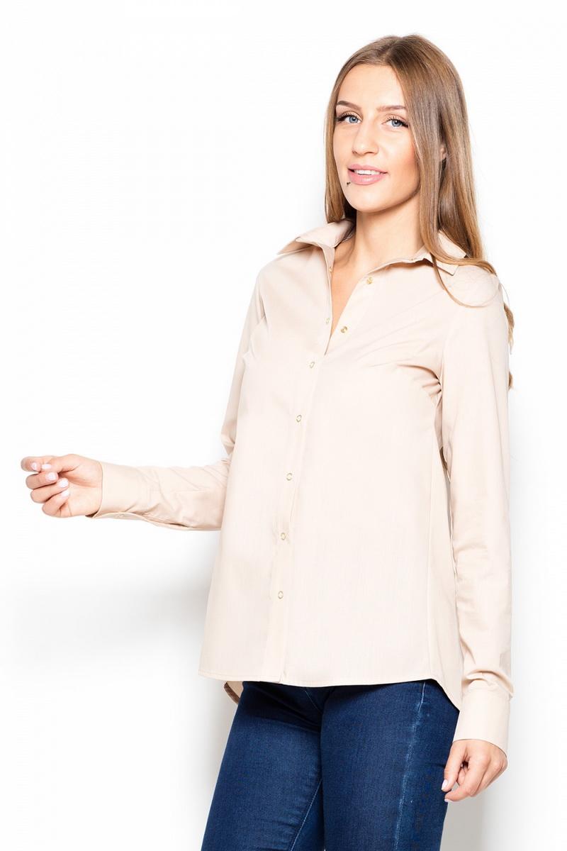Dámská košile Katrus K384 béžová (velikost L)